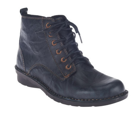 Clarks Leather Lace-up Ankle Boots - Nikki North