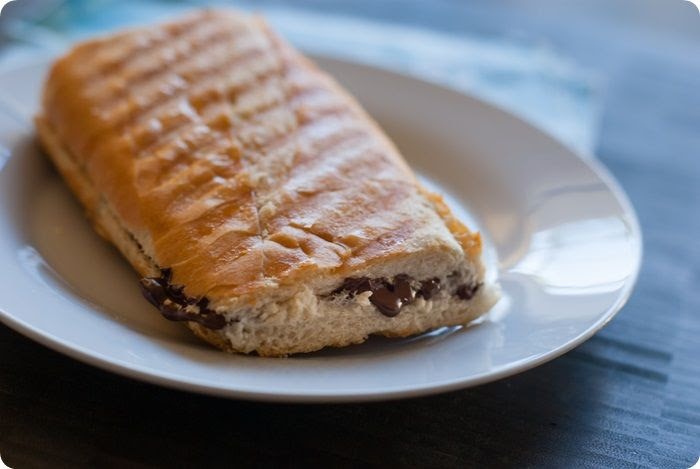 Chocolate Baguette Sandwiches with Orange and Sea Salt