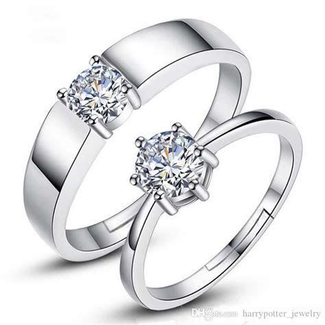 Designer Forever Love Wedding Rings Pair Couple Rings Men