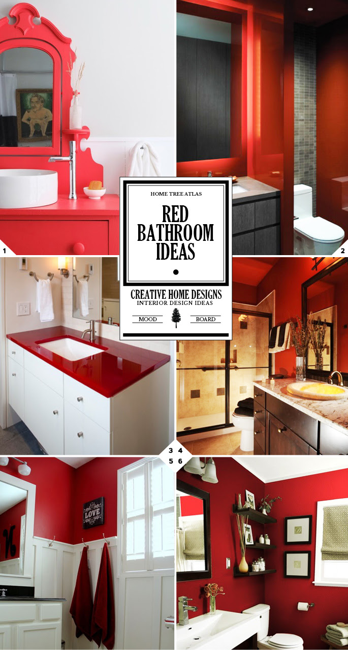 Color Style Guide: Red Bathroom Ideas and Decor Accessories | Home Tree Atlas