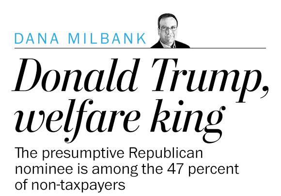 Donald Trump, the welfare king
