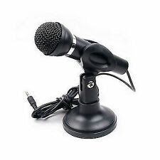 STAND MIC MICROPHONE FOR COMPUTER LAPTOP 3.5MM AUX STEREO BLACK COLOR