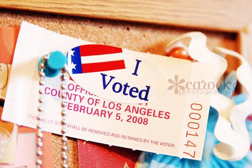 i voted....