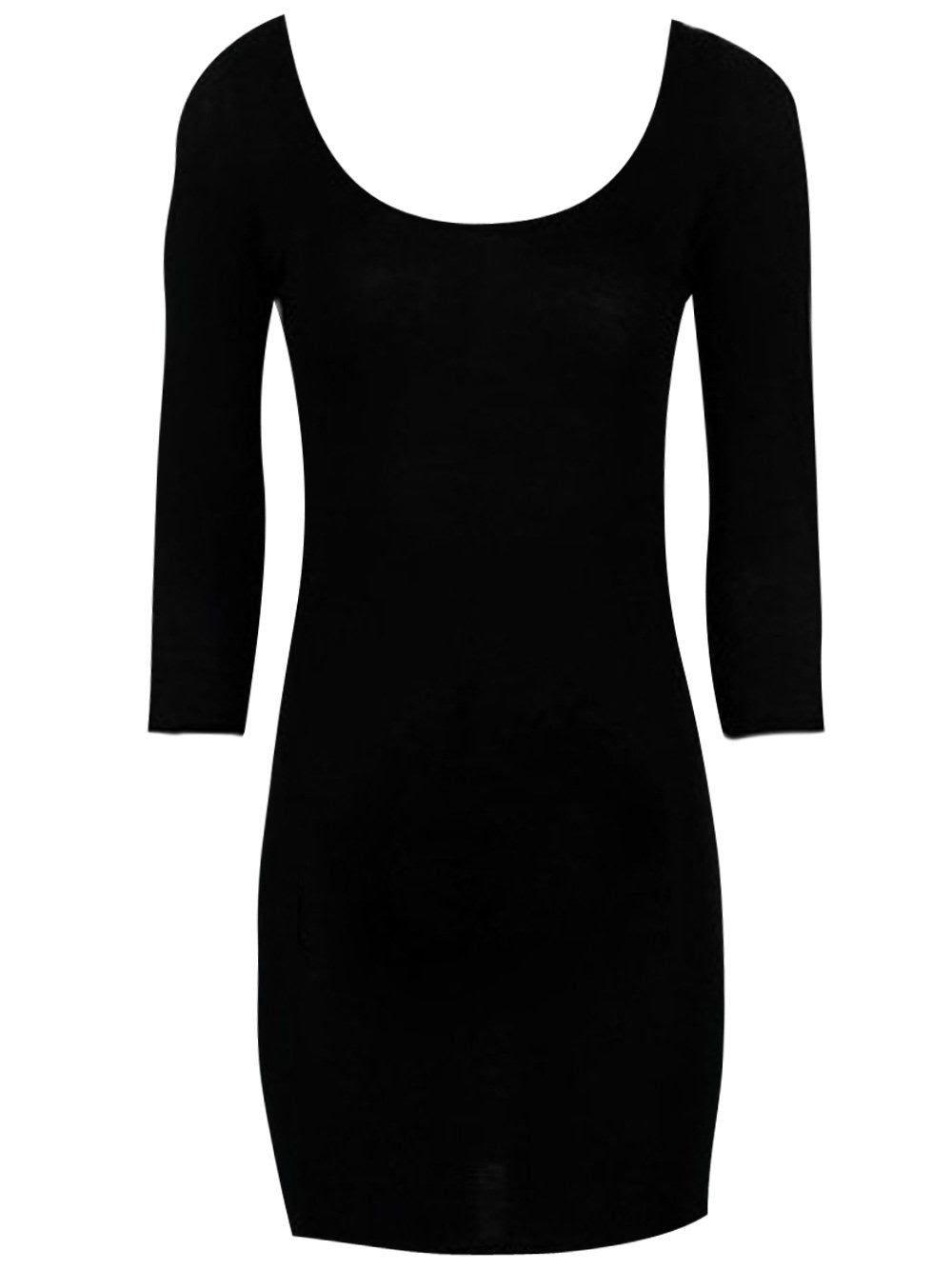 Stores spain black long bodycon white dress and sleeve lily