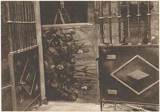 Embalaje del Expolio del Greco para su traslado desde la Catedral durante la incautación llevada a cabo por las autoridades republicanas en 1936