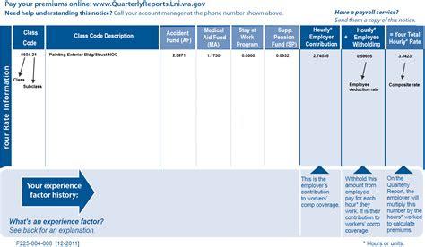 washington workers compensation setup  calculations
