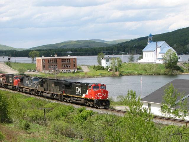 IC 2717 on train CN 308 at Lac Baker NB