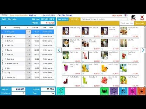 Phần mềm quản lý nhà hàng chuyên nghiệp, order món bằng điện thoại