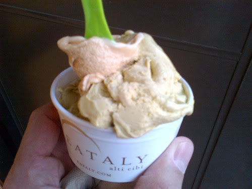Burnt Caramel Gelato at Eataly
