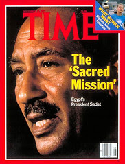 Presidet Sadat on the cover of the time for the 7th time
