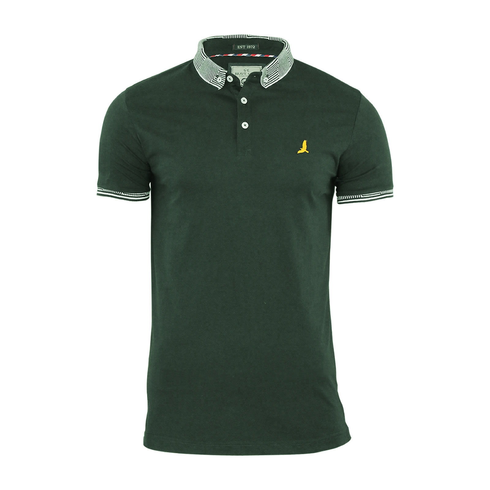 mens polo t shirt brave soul glover cotton collared short