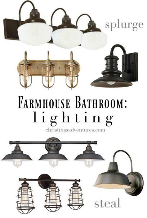 farmhouse bathroom design elements  sources blogger
