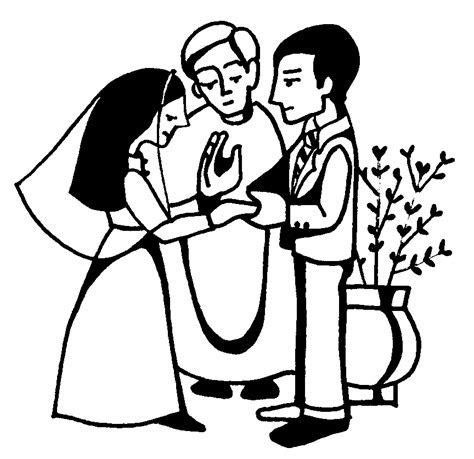 Ceremony clipart church wedding   Pencil and in color