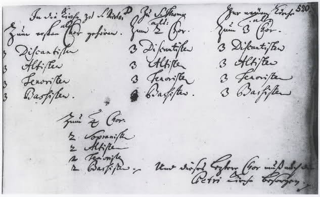 Memorandum Johann Sebastian Bach