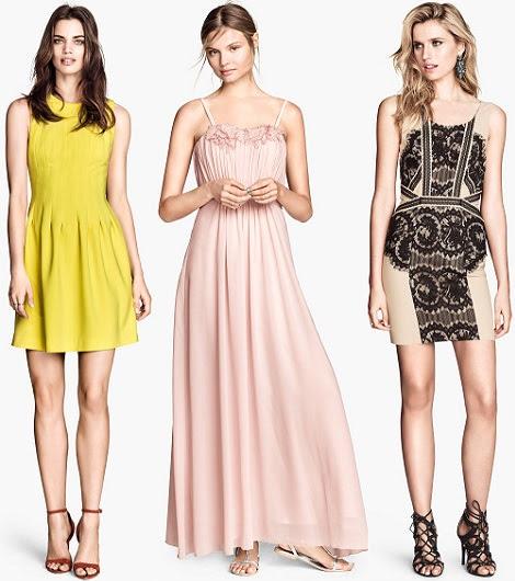 vestidos de fiesta de H&M primavera verano 2014