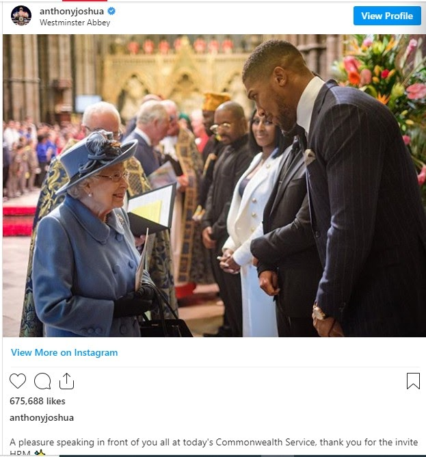 Anthony Joshua in Self Isolation after making contacts with COVID 19 positive patient + Prince Charles of Wales