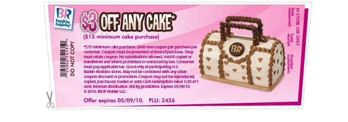$3 Off any cake*