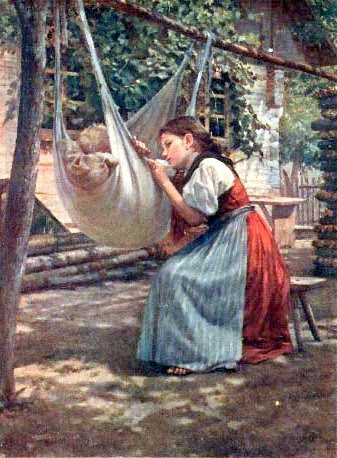 Mom and Child In Hammock
