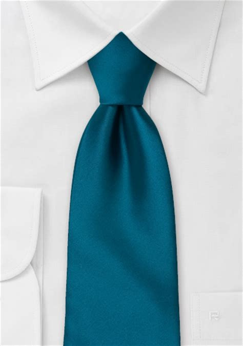 Solid Necktie in Dark Teal Blue   Bows N Ties.com