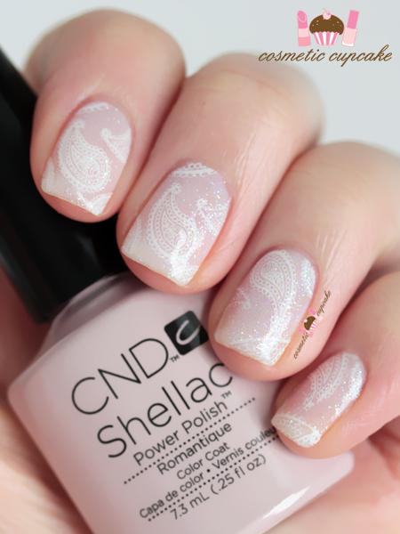 Cosmetic Cupcake Romantique Paisley Cnd Shellac Manicure