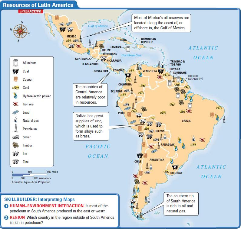 Latin America Landforms And Resources