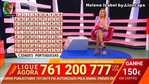 Helena Isabel sensual a apresentar o 1000 à hora