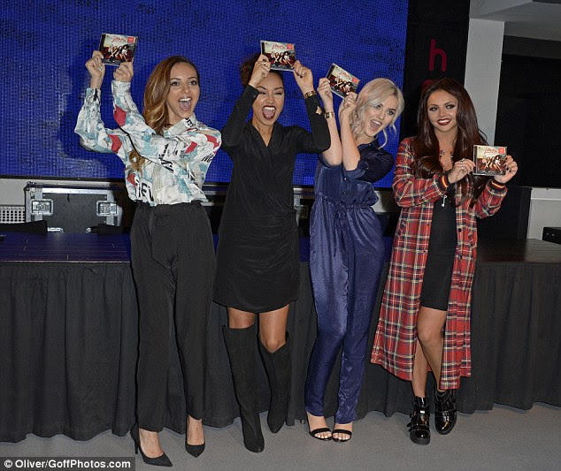 Little Mix do bedroom chic in silk pajamas at album signing  Daily Mail Online