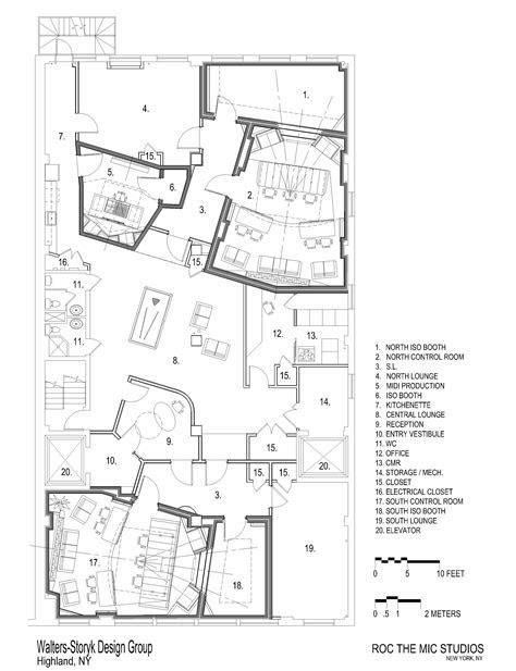 Walters-Storyk Design Group | Studio floor plans