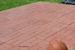 Made By Mom A Diy Paver Stone Basketball Court