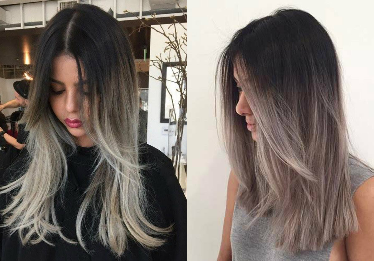 Magnifying Ombre Grey Hair Colors Pretty Hairstylescom