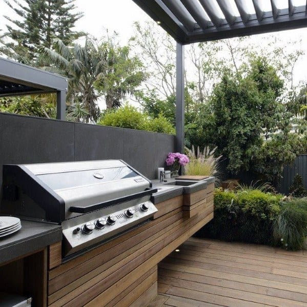 Top 50 Best Built In Grill Ideas - Outdoor Cooking Space ...