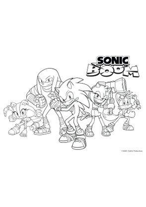 Coloriage La Bande De Sonic Boom Au Complet Coloriage Sonic Boom