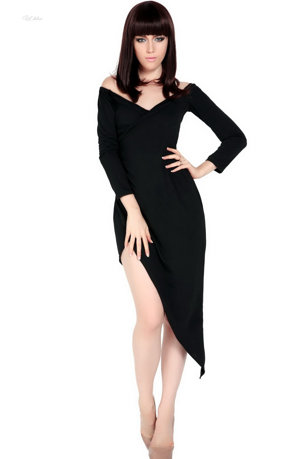 Secret bodycon maxi dress long sleeve wish yoga