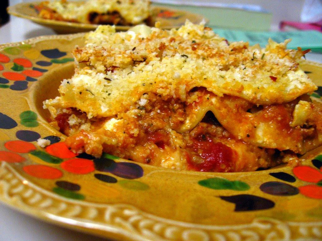 Eggplant and Veal Lasagna Parm