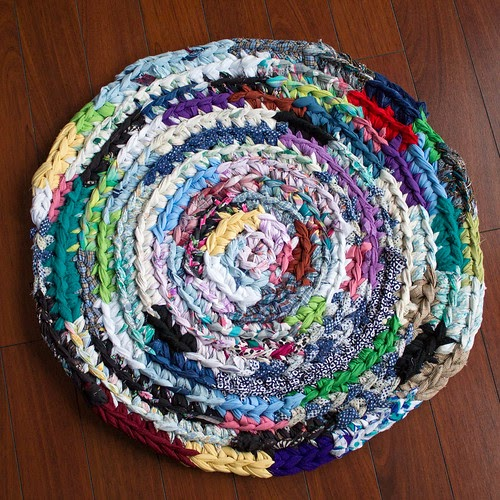 My Un-Cat-Like Crocheted Rag Rug
