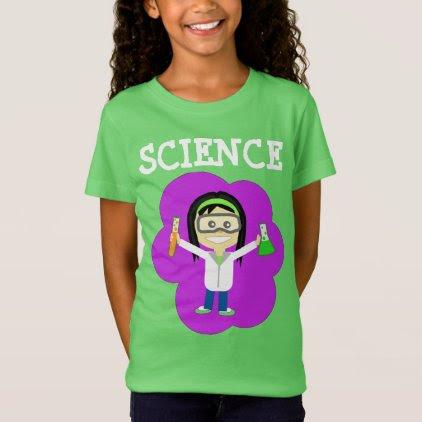 Female Scientist on Girls' Fine Jersey T-Shirt