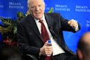 """Barry Diller, chairman and senior executive of IAC, and chairman and senior executive of Expedia Inc., speaks during a panel session """"A Conversation with Barry Diller"""" at the Milken Institute Global Conference in Beverly Hills"""