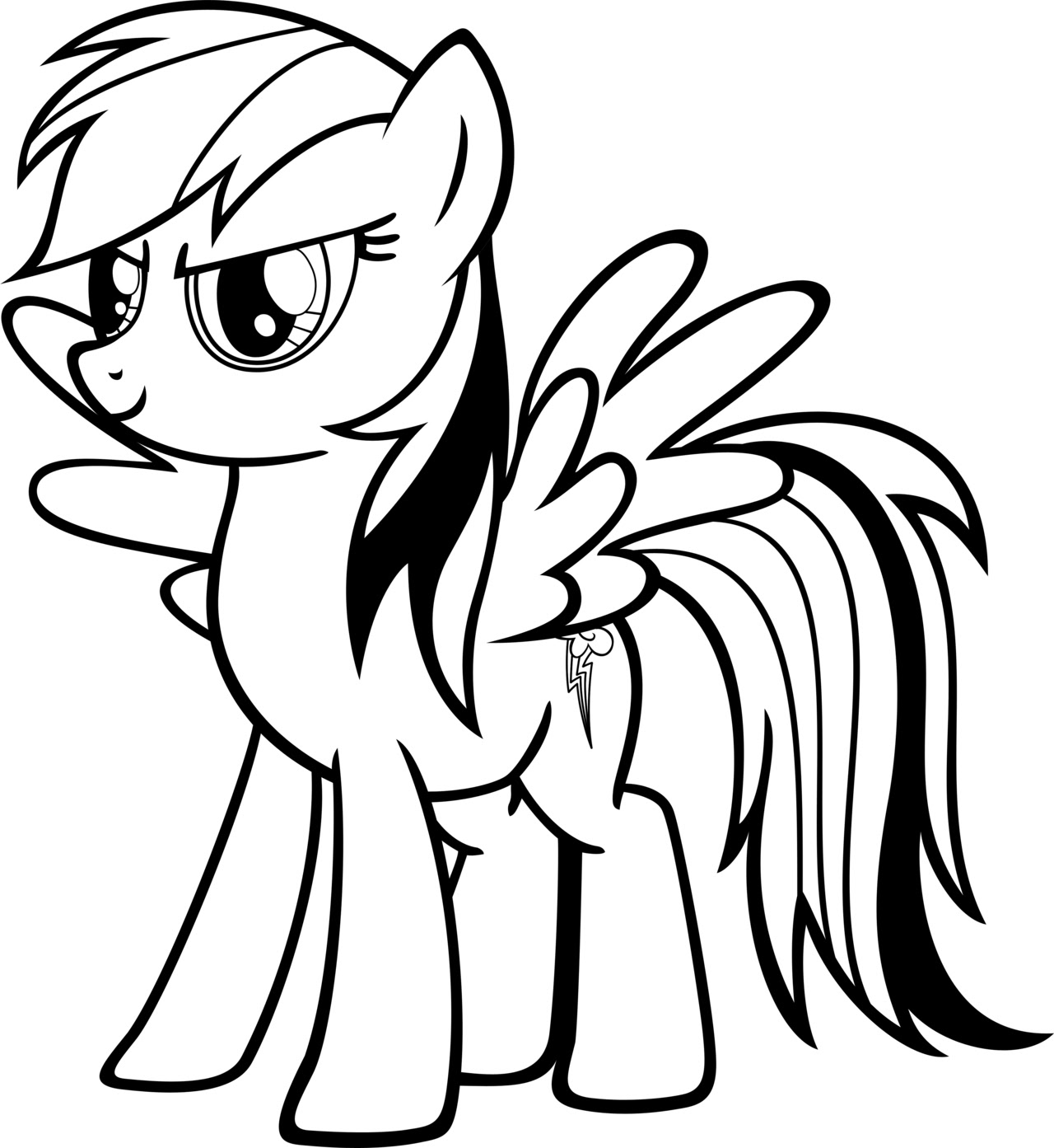 Rainbow Dash Coloriage My Little Pony à Imprimer Gratuit