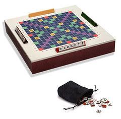 Leather Scrabble Set