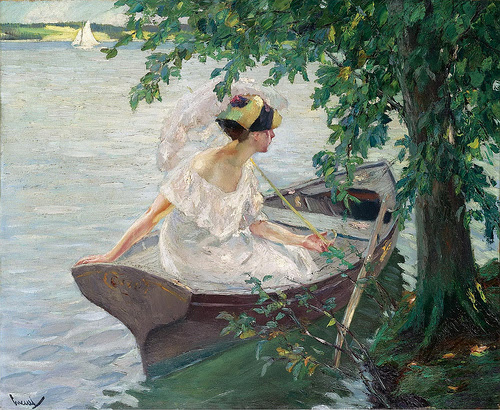 1917Edward Cucuel - An Outing By Boat  [1917]