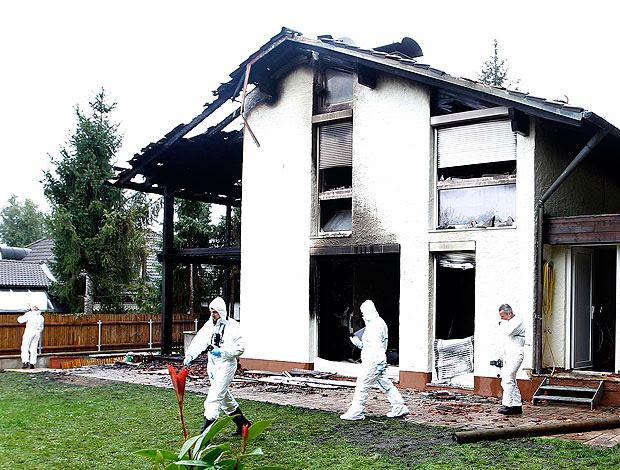 casa do zagueiro Breno após incêndio (Foto: Reuters)