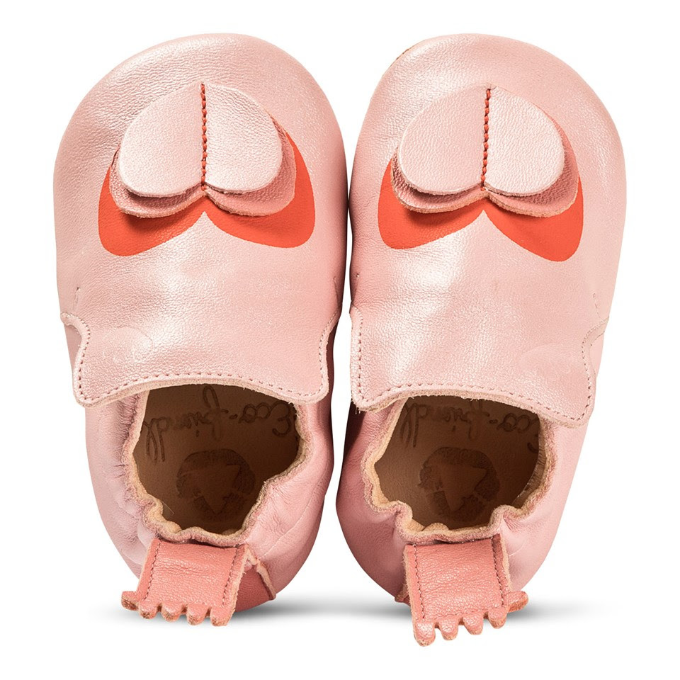 easy peasy heart slippers baby