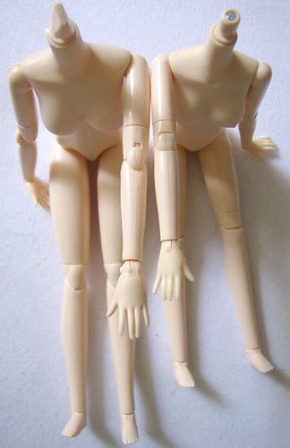 Obitsu Comparison - Arms and legs