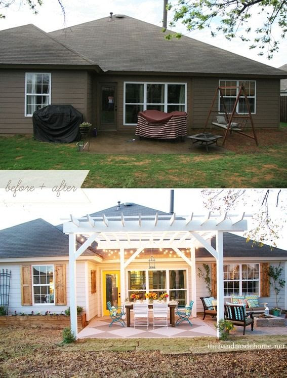 Back Yard Patio Before and After
