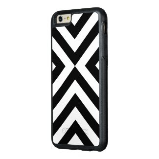 Rugged Geometric Black and White Chevrons OtterBox iPhone 6/6s Plus Case