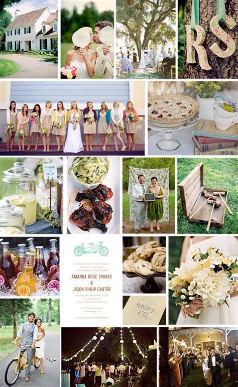 LQ Designs : A Backyard Wedding on a Budget   Love and