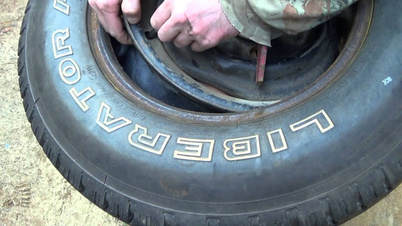 How To Put An Inner Tube In A Truck Tire Youtube