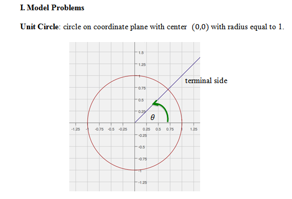 Unit Circle Worksheet with Answers. Find angle based on end ...
