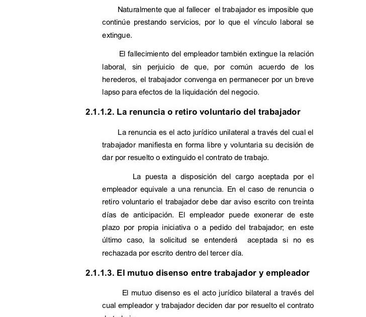 Carta De Renuncia Por Mutuo Acuerdo N Carta De