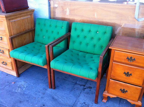 green midcentury chairs